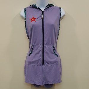 CCR Brand Lavender Hoodie Romper